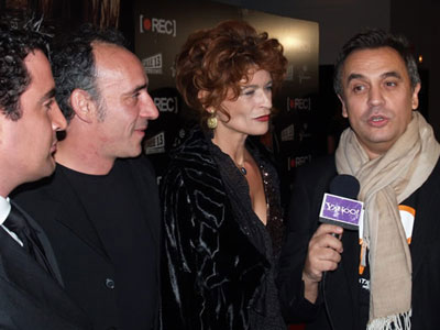 "OPENING NIGHT OF THE FILM ""REC"" (directed by Jaume Balagueró), Madrid Nov 2007 Enrique del Pozo, Gabrielle Scharnitzky, Simone Mariani, Leo Trevi"