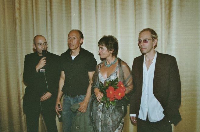 INDEPENDENT FILM FESTIVAL Oldenburg September 2004 - with Torsten Neumann (Head of Film Festival), Detlef Bothe (director), Hannes Stromberg (producer)